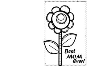 Simple Flower Card that says Best Mom Ever
