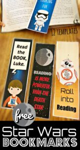 free Star Wars Bookmarks
