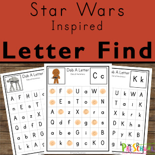 super cute star wars themed abc printables for practice finding capital and lower case letters