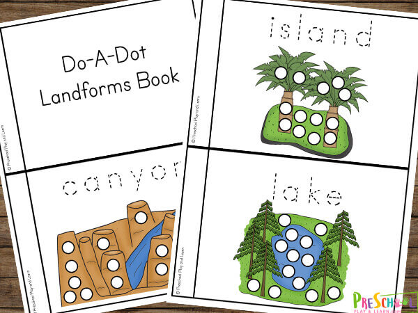 help young children explore landforms for kids with this free printable landforms book