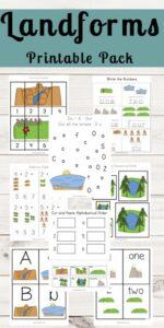 landforms themed worksheets
