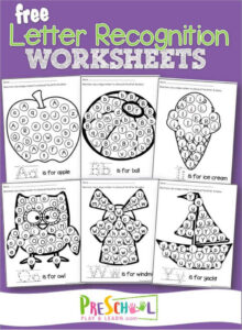 do a dot printable letter recognition worksheets for preschoolers
