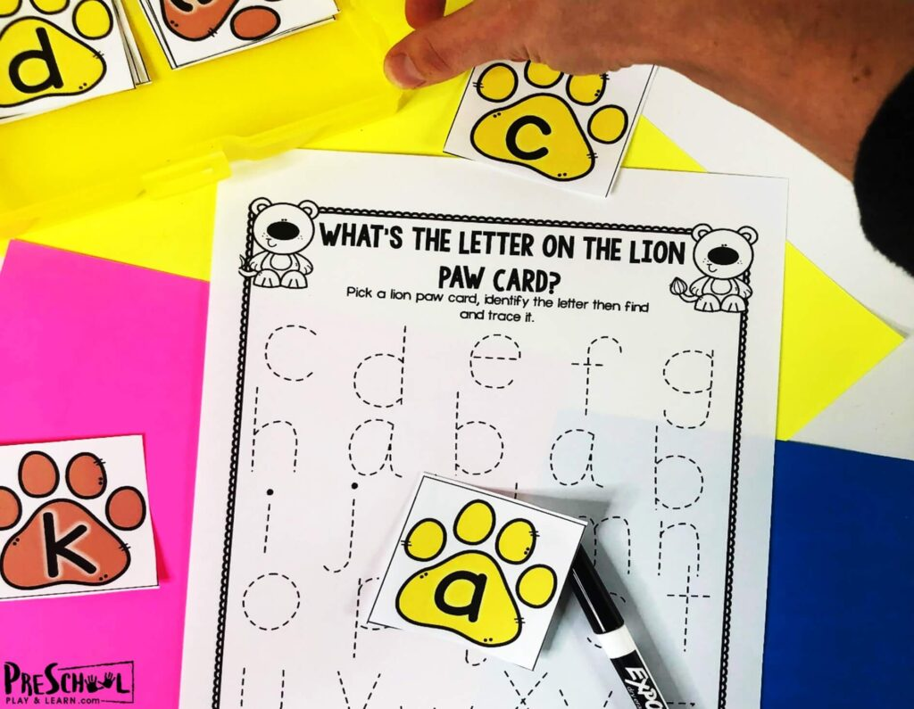 super cute hands on Tracing Letters
