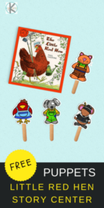 Little REd Hen Printable Puppets
