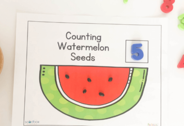 fun hands on math activity for preschool, pre k, and kindergarten for summer learning
