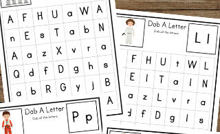 Preschoolers and kindergarteners will love learning and practicing identifying uppercase and lowercase letters with these free Star Wars Find the Letter worksheets.