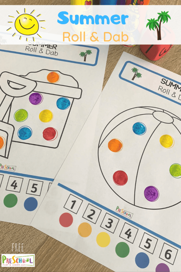 Sunshine, warm weather, water sports, beach... Summer is almost here! Are you heading into the warmer season where you live? Let the fun Summer learning start with this Summer Do a Dot Printables activity, perfect for your preschooler, pre k, kindergarten, or toddler!
