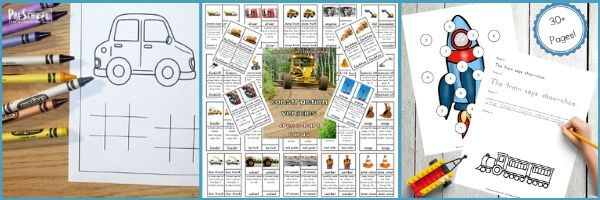 transportation theme printables