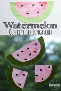 watermelon suncatcher craft
