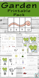 Garden Worksheets for Kids