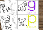 low prep Mammals Printables to learn new vocabulary, trace letters, and learn animals from A to Z