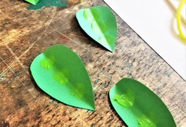 Pea Pod Craft for Kids