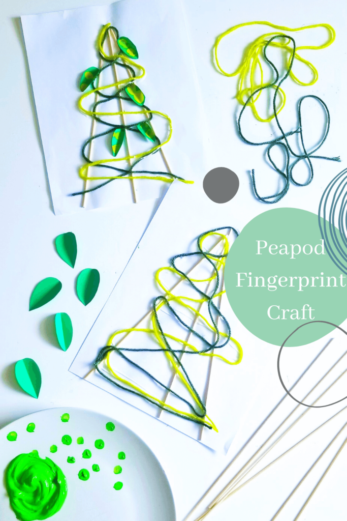 Preschoolers will have fun making this super cute pea pod craft using their finger art! This fingerprint craft is sure to delight young children.