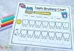 download the free Printable Teeth Brushing Chart and print as many as you need for your kids