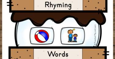 fun, hands on Rhyming Games for Preschoolers