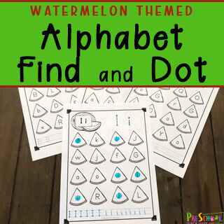 watermelon themed abc printables for summer educational activities
