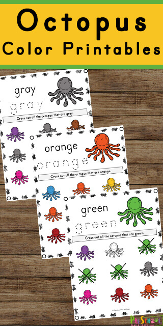Learning your colors and color words is fun with these free printable Octopus Color Printables. The engaging cute clipart and simple, no prep activity make it easy to learn colors for preschool, pre k, toddler, and kindergarten children.