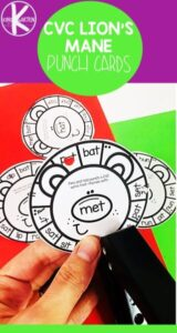 lion rhyming words activity