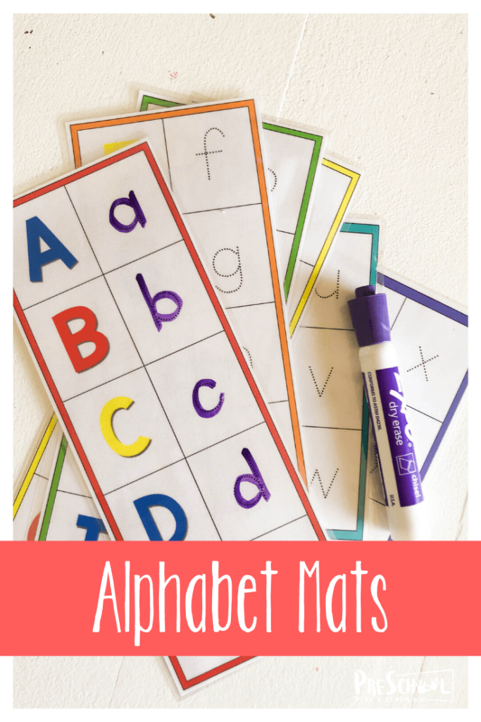 Alphabet Activity for pre k students