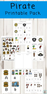 pirate themed worksheets for practicing math and literacy skills