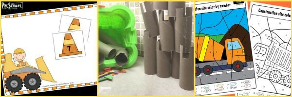 Preschool Construction Math Activities