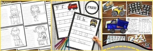 Construction Printables for Preschoolers