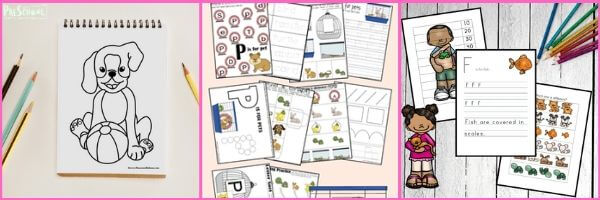 Pet Printables for preschoolers: