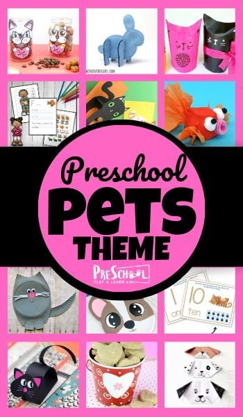 Learn all about dogs, cats, and other pets with your preschooler using this Pets Preschool Theme! Your kids will love these engaging activities, printables, and crafts.