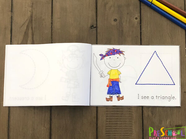 use this emergent reader to learn shapes for preschoolers