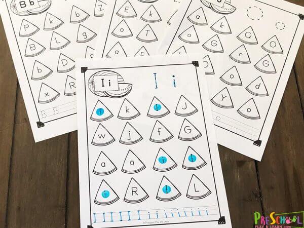 watermelon worksheets to work on letter recognition