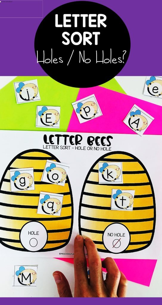 Help kids learn to look for differences in letters with this funVisual Discrimination Activities for preschool, pre k, kindergarten, and grade 1. Use this bee themed activity as colorful sorting mats or cut and paste worksheets.