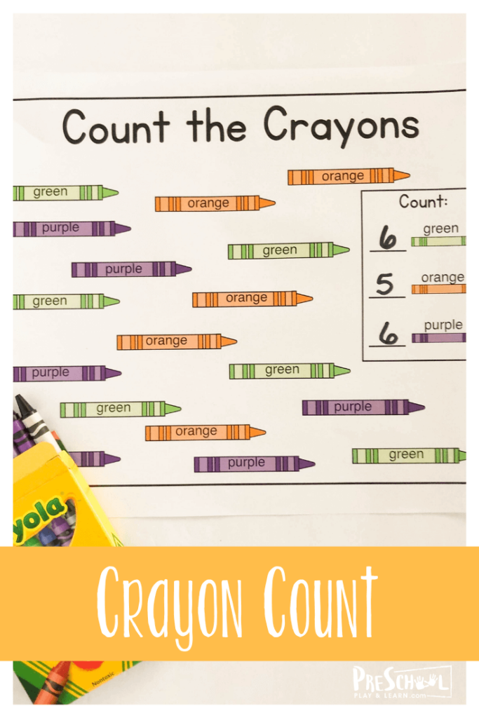 Fun I Spy Colors activity perfect for back to school to make the first day of school fun for pre k and kindergarten age kids as they practice counting to 10 and color recognition too