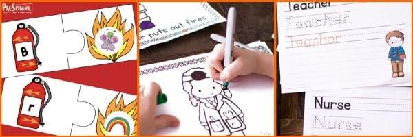 Community Helper Printables for Preschoolers