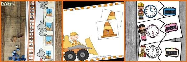 Preschool Community Helper Math Activities