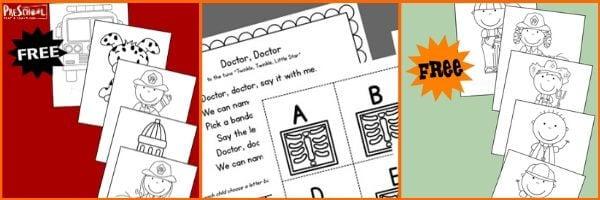 Preschool Community Helper Literacy activities