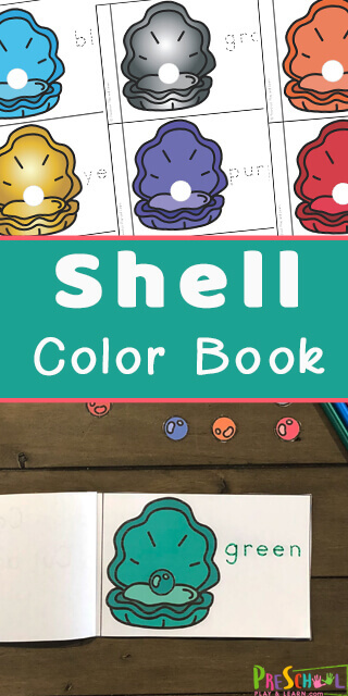 Do your kids love collecting seashells? If so this super cute Learning Colors for Preschoolers activity is a fun way to help work on color recognition and color names while having fun! Turn these free printable cut and paste worksheets into Shell Color Reader to make practicing colors fun for toddlers and kindergartners.