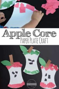 Paper Plate Apple Core Craft