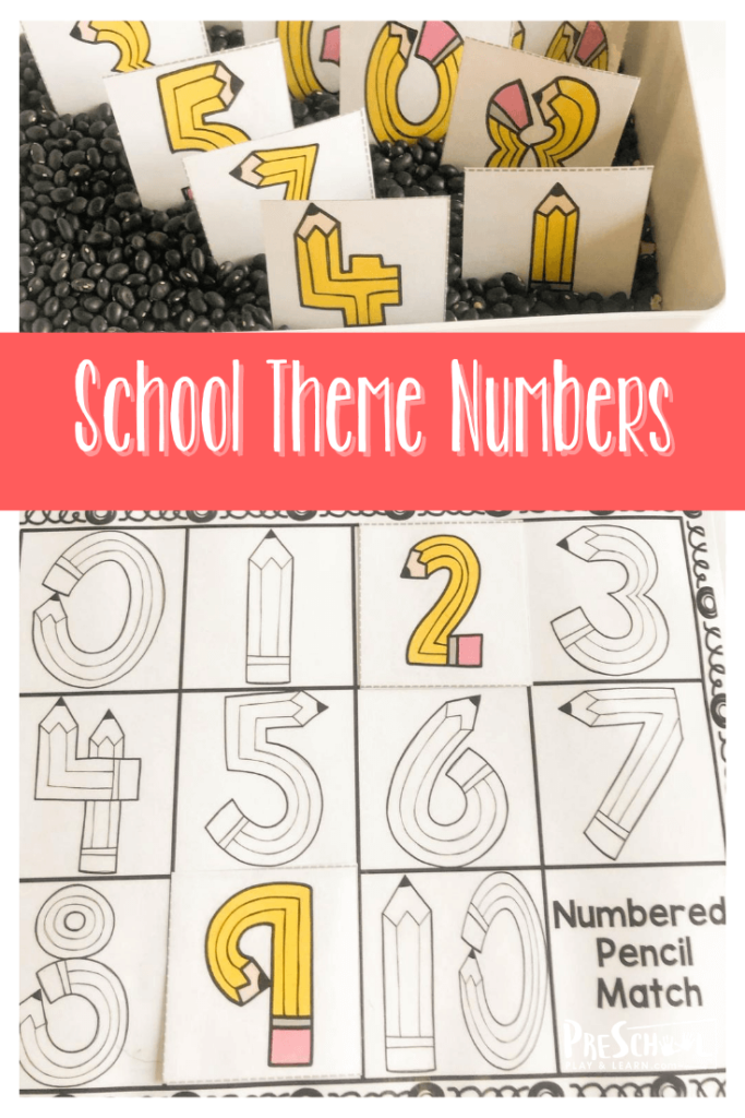 Are you looking for a fun back to school theme math activity for preschoolers, toddlers, or kindergartener? This super cute, pencil themed, number matching activity is the perfect resource for you. Grab the number matching free printable pdf below to help your child will practice a variety of skills as they engage with fun pencil shaped numbers.