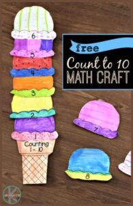 cut and paste ice cream counting printable