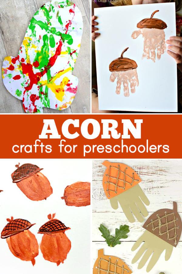 Fall Acorn crafts for preschoolers