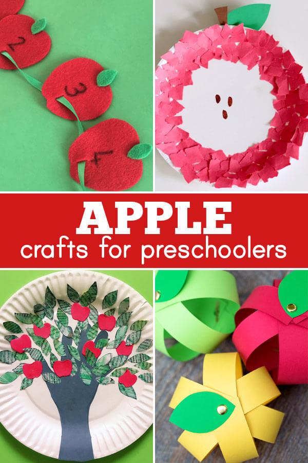 Super cute apple crafts for preschoolers