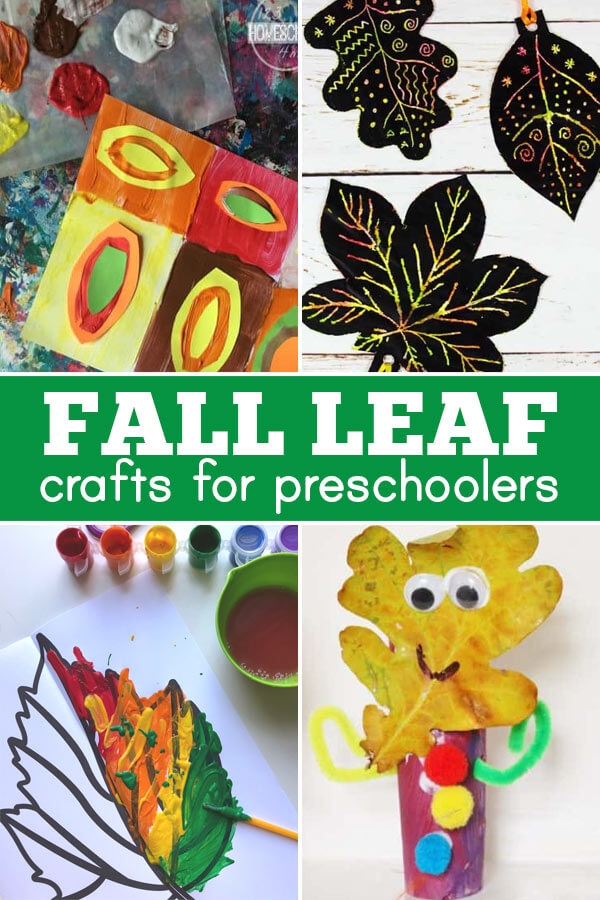 Super cute and fun to make leaf crafts for preschoolers, toddlers, and kindergarteners
