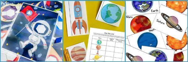 Preschool Outer Space Math Activities: