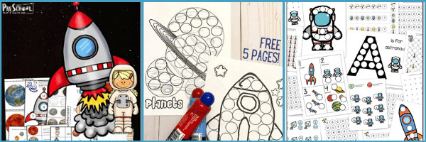 Outer Space Printables for Preschoolers: