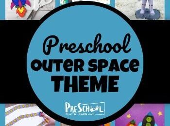 Learn all about the sun, the moon, the stars, and planets with your preschooler using this Outer Space Preschool Theme! Your kids will love these engaging activities, printables, and crafts.