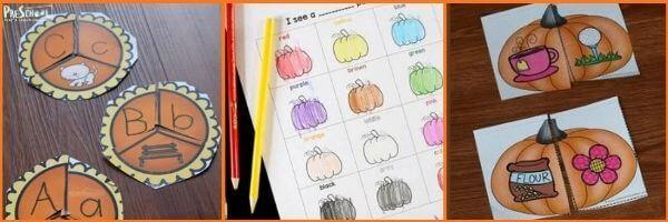 Preschool Pumpkin Literacy Activities: