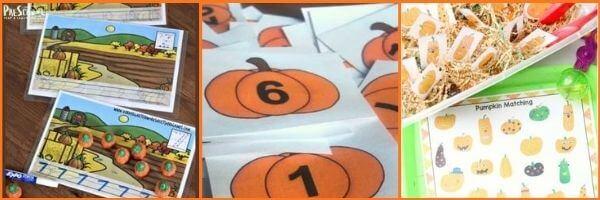 Preschool Pumpkin Math Activities:
