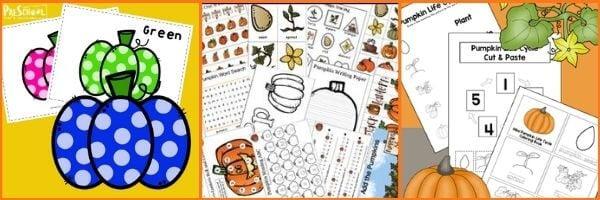 Pumpkin Printables for Preschoolers: