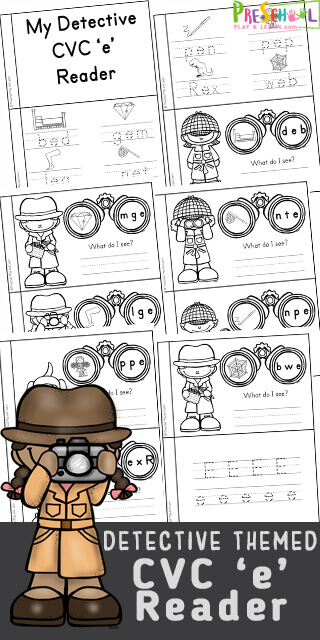 Become a super sleuth with this fun, free printable Detective Themed short e cvc wordsb printable. In thiscvc short e activity for preschool, pre-k, kindergarten, and first grade students, children will practice phonics skills including letter sounds, beginning sounds, middle sounds, and ending sounds to make words! Simply printcvc words activity and you are ready to unscrable the letters using the clue to uncover the mystery in thiscvc activities.