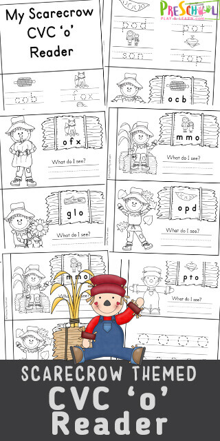 Are you in need of some Free Printable short 'O' vowel readers to use with your students or children at home? This Scarecrow Themed CVC Short Vowel 'o' reader is a great way to introduce children to cvc words with the short 'o' sound.